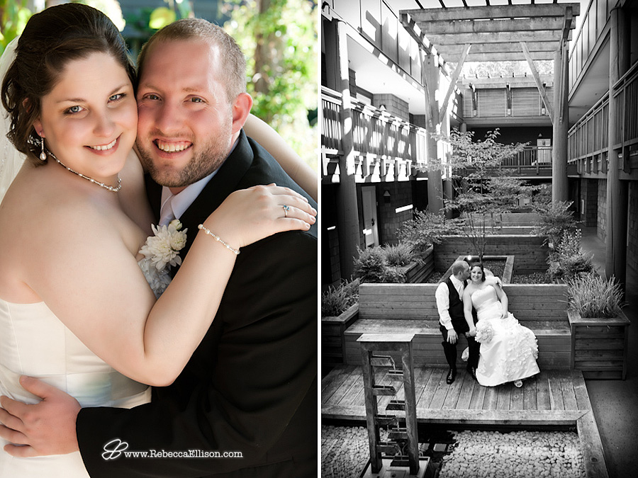 casual portraits of bride and groom at Alderbrook Resort