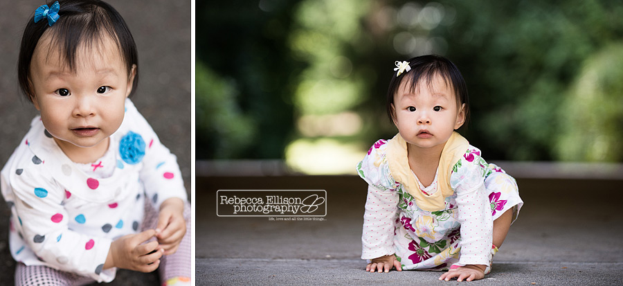 one year old chinese girl photographed by bellevue child and first birthday photographer Rebecca Ellison
