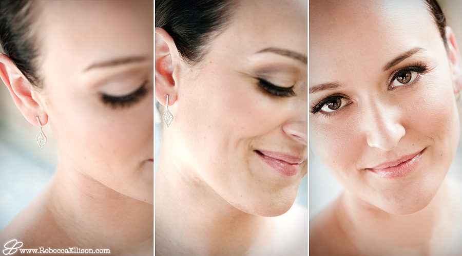 Close up portraits of a bride photographed by Seattle wedding photographer Rebecca Ellison