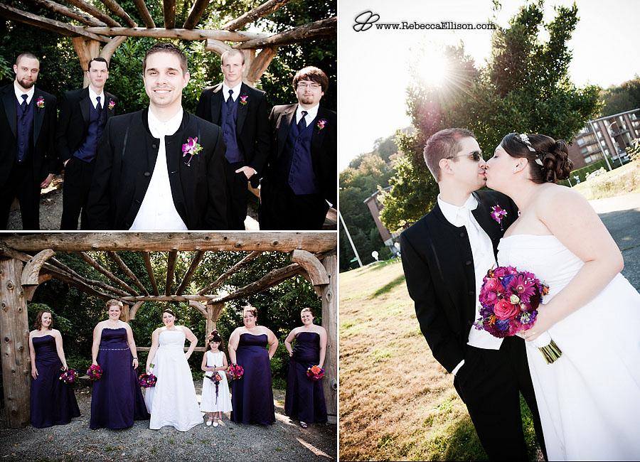 bridal party & wedding couple