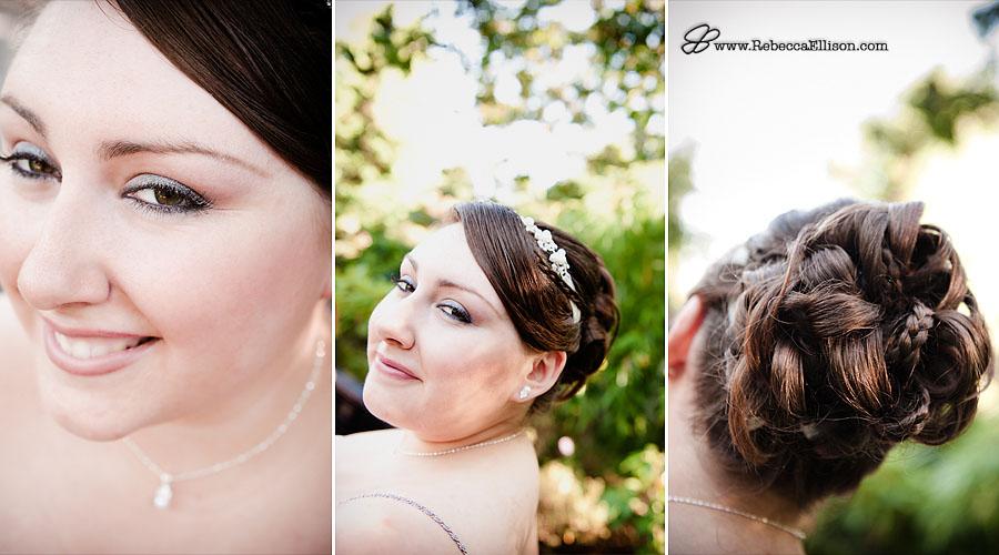details of bride hair
