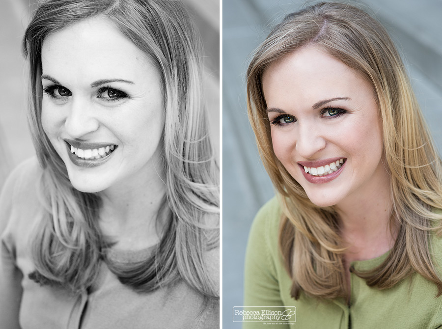 Close Ups for a professional headshots portrait session by Rebecca Ellison Photography