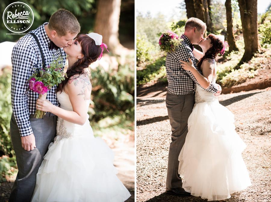 chess-inspired-wedding-004 side braid wedding hair , fushia wedding flowers