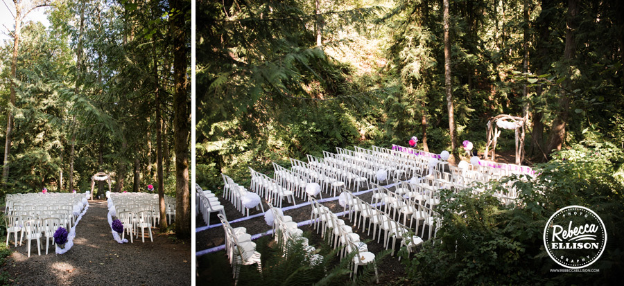 chess-inspired-wedding-018 hornings hideout oregon wedding ceremony in woods