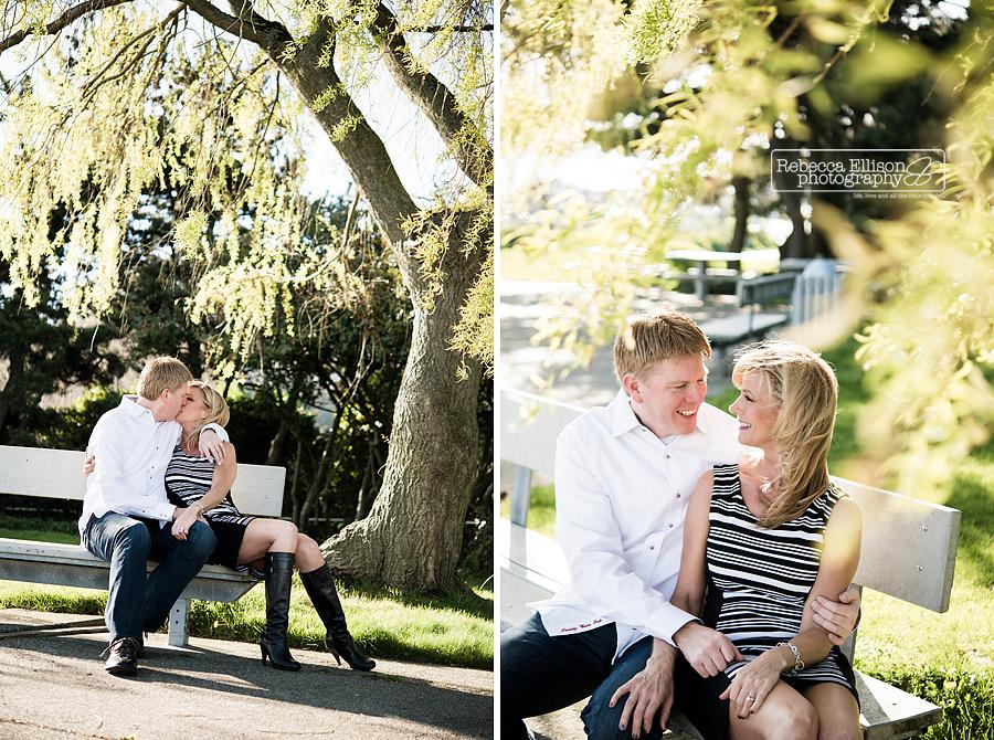 engagement photos of mature couple at smith cove park Seattle Photography by engagement photographer Rebecca Ellison