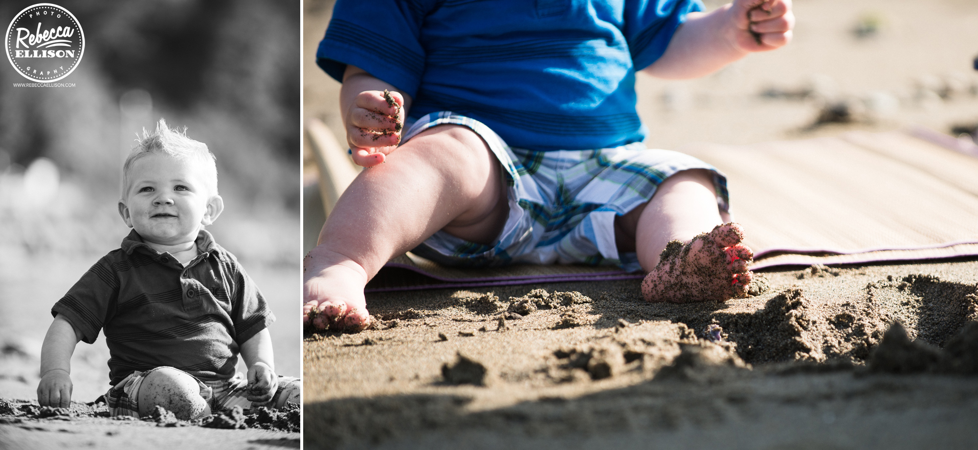Boy playing in the sand at Howarth Park Photographed by Everett child photographer Rebecca Ellison