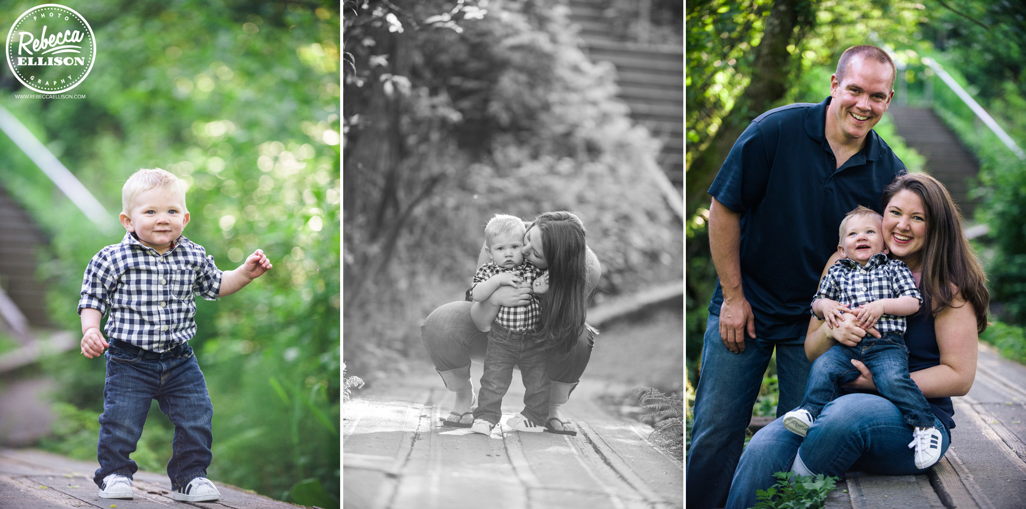 Outdoor family portraits at Howarth Park photographed by Family Photographer Rebecca Ellison