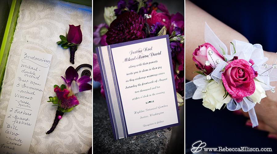 wedding flowers & invitation