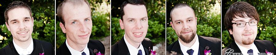 groomsmen portraits headshots