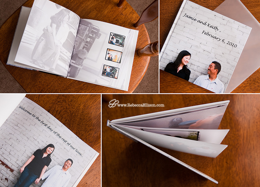 custom engagement photo guest book