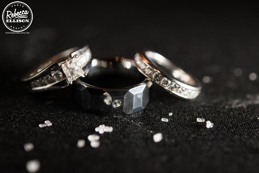 Wedding rings photographed by Seattle wedding photographer rebecca ellison