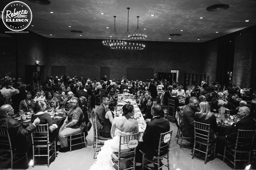 Elegant wedding dinner at a fall hall at fauntleroy wedding photographed by Rebecca Ellison photography