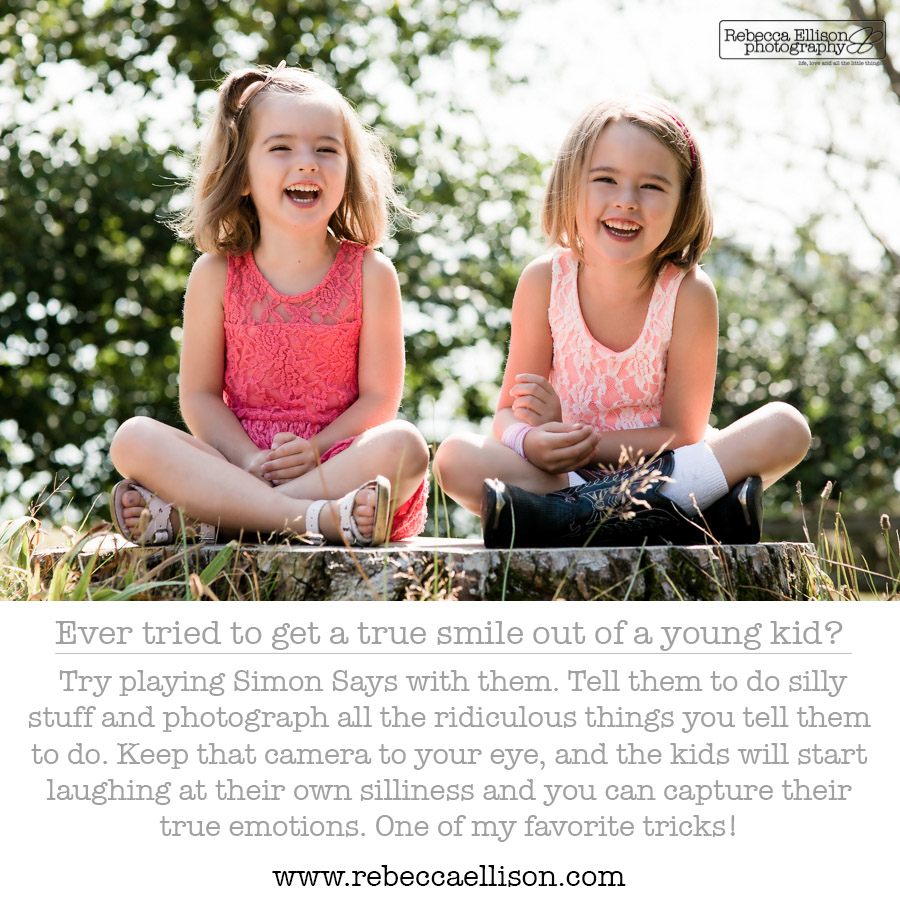 Photograph true smiles when taking photos of your kids