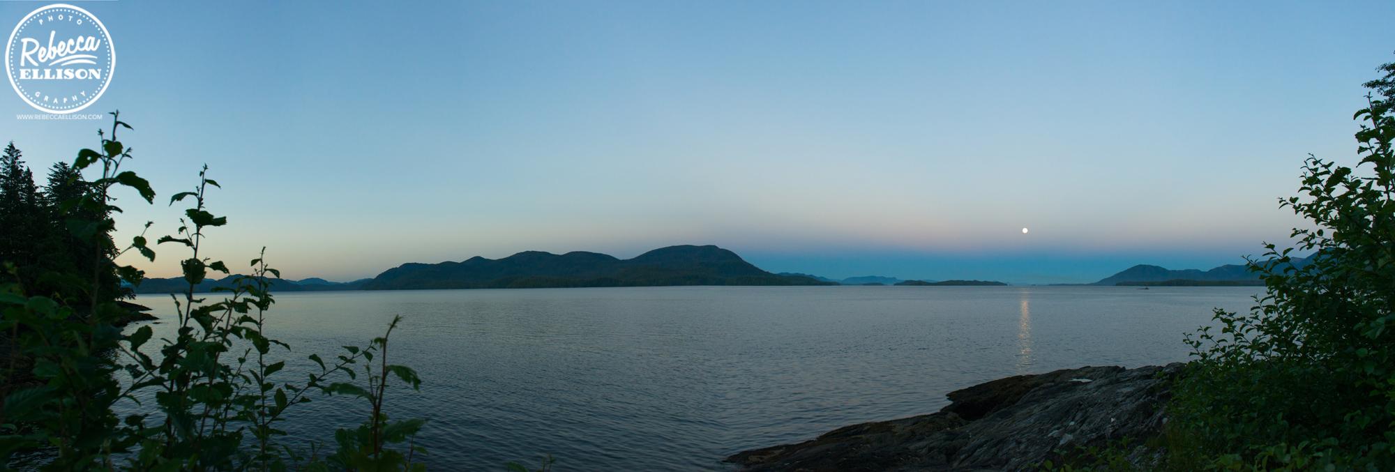 Sunrise in Ketchikan Alaska photographed bt Rebecca Ellison Photography