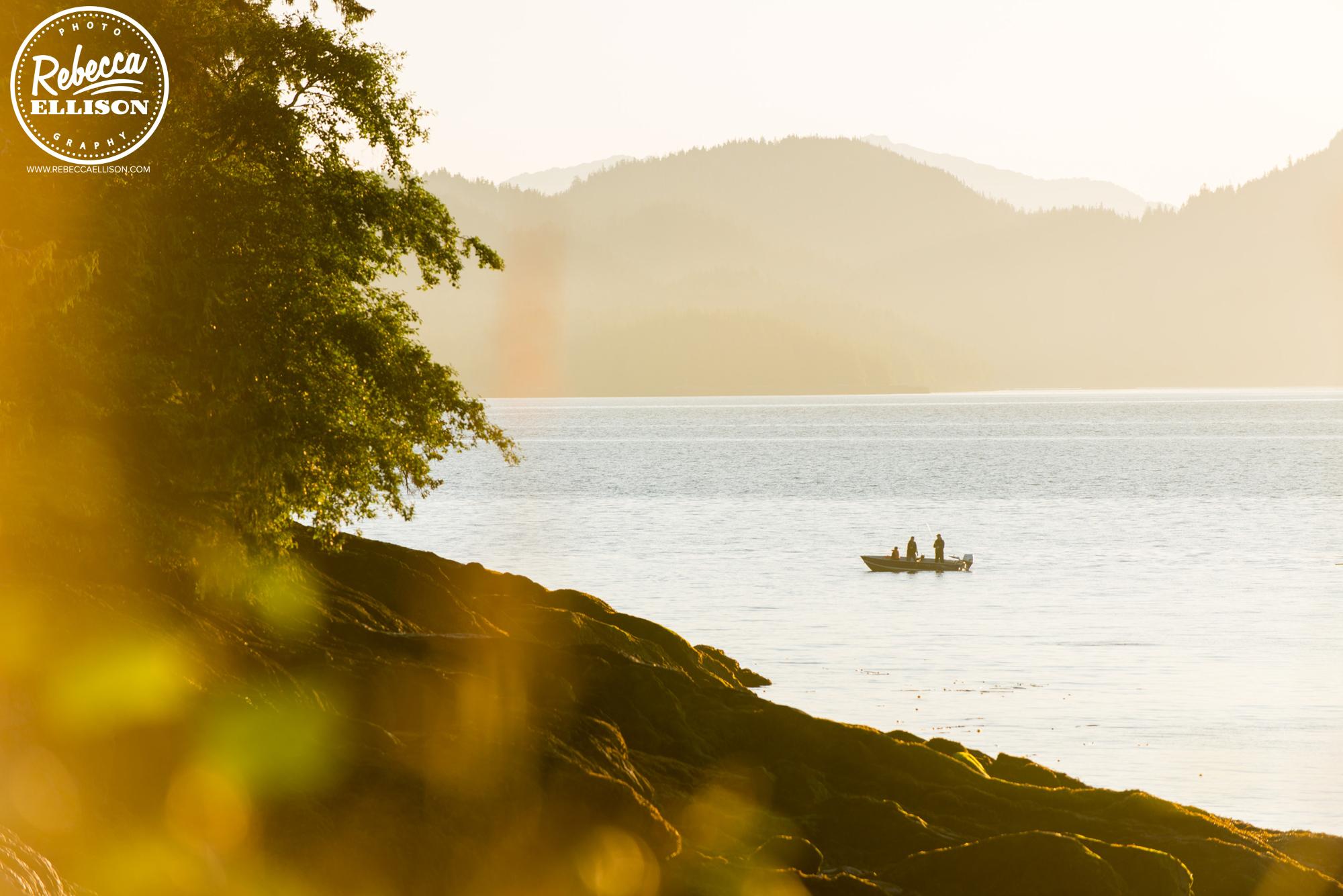 Sunrise Alaskan fishing boat near Ketchikan photography by Rebecca Ellison