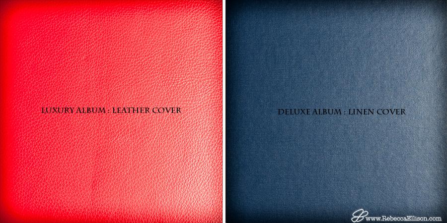 Rebecca Ellison Photography - Leather vs Linen cover