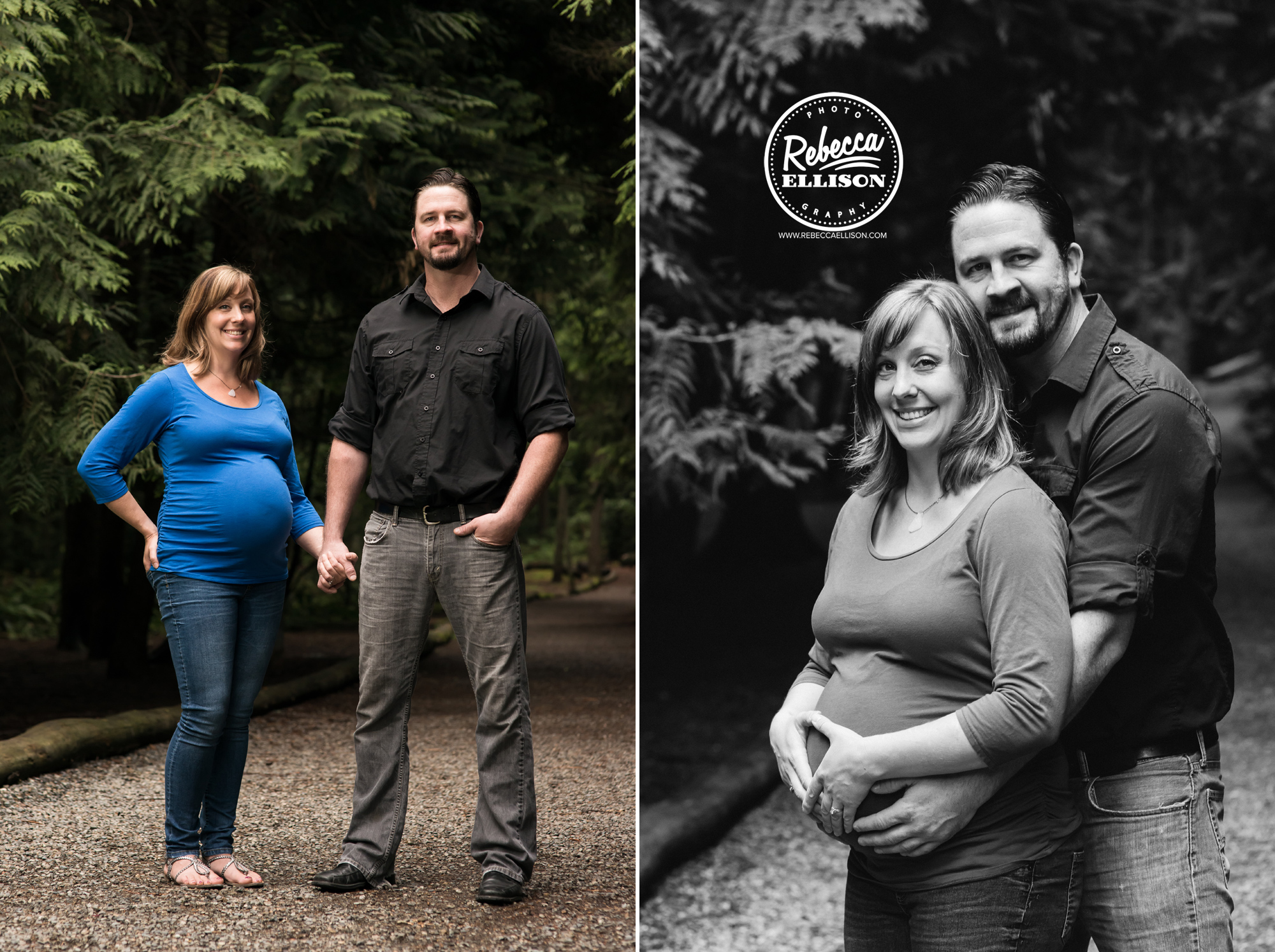 Outdoor maternity photos in Hamlin Park photographed by Shoreline maternity photgrapher Rebecca Ellison