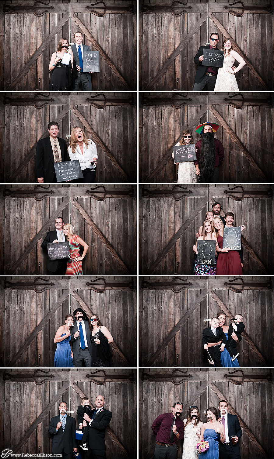 A wedding photobooth by Seattle wedding photographer, Rebecca Ellison