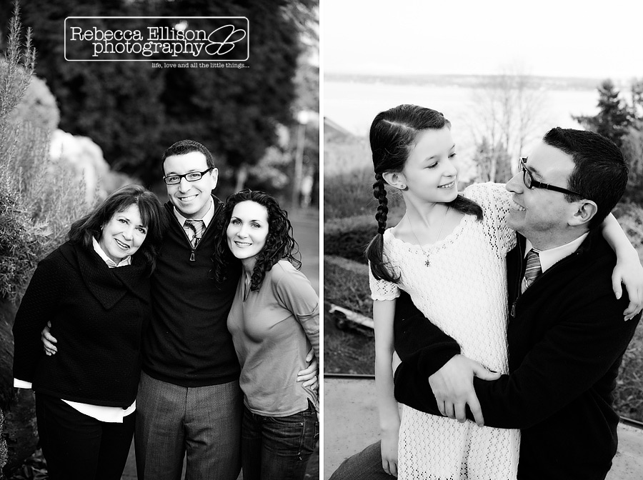 Extended family portraits in Seattle photographed by Seattle family photographer Rebecca Ellison