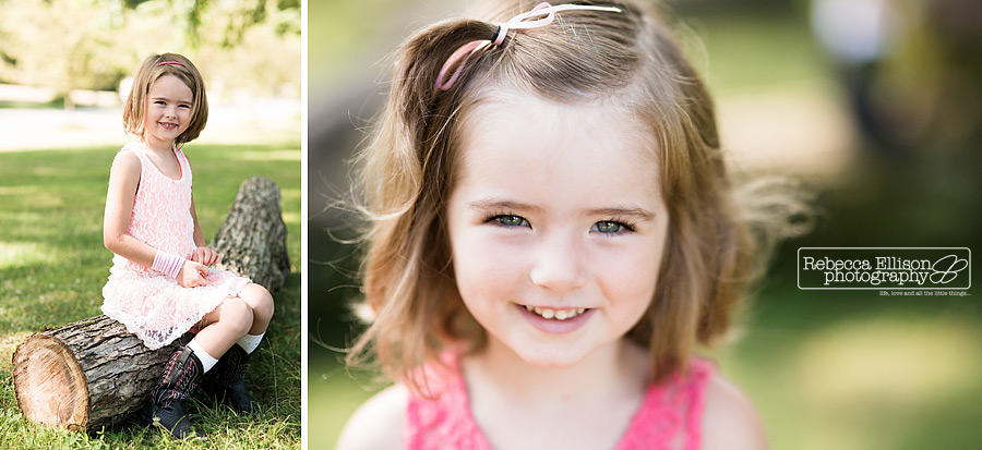 head shot portriats of girls at greenlake family portraits session