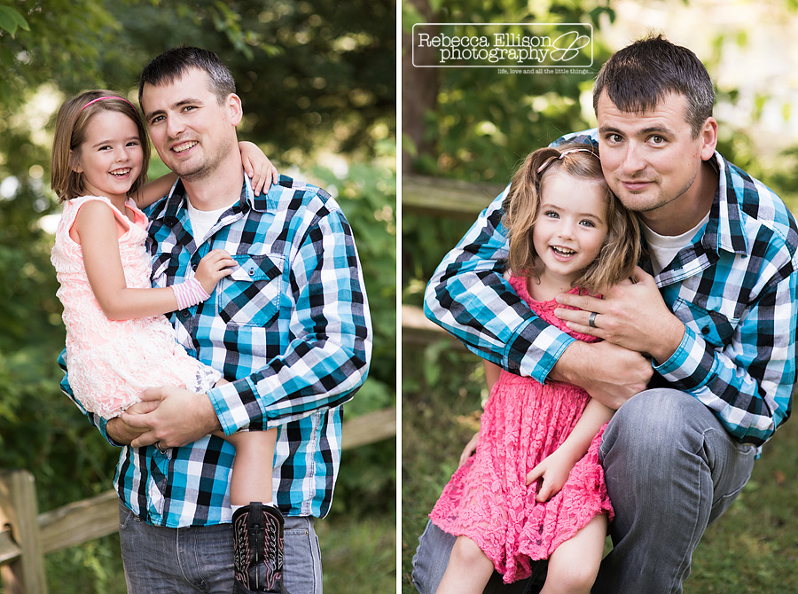 dad and daughter photos at greenlake family portraits session
