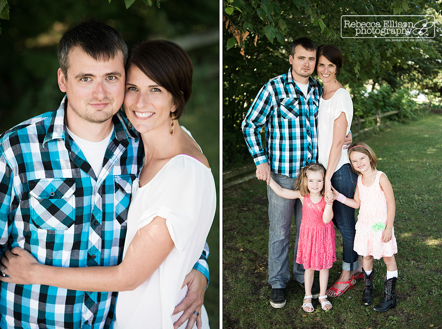portrait of mom and dad and of kids at a greenlake family portrait session