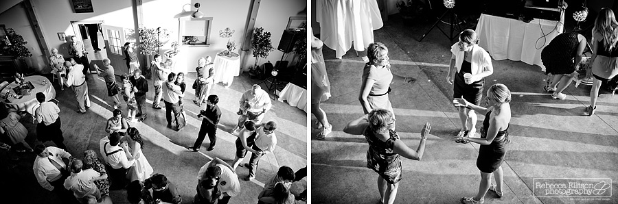 Wedding reception in Black and white at Tazer Valley Farm