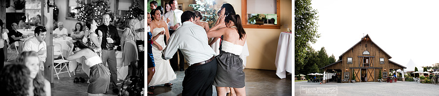 guests dance during a wedding reception at Tazer Valley Farm
