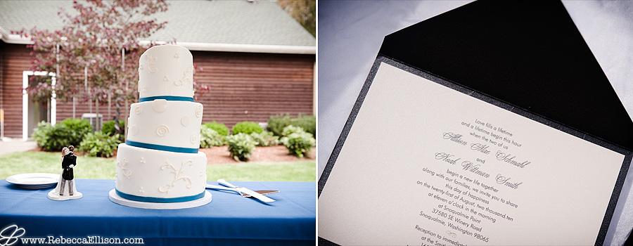 cake and invite