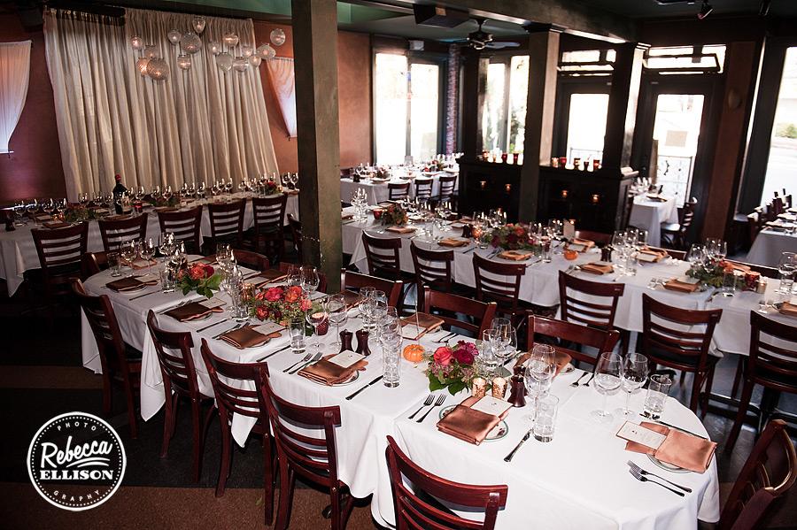 Serafina seattle wedding reception details