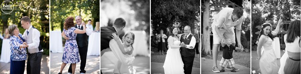 Wedding reception at Snohomish wedding venue Jardin del sol photographed by Rebecca Ellison Photography