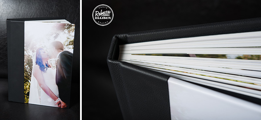 Vision album a new product from Rebecca Ellison Photography features a flush mount lay flat binding for easy viewing