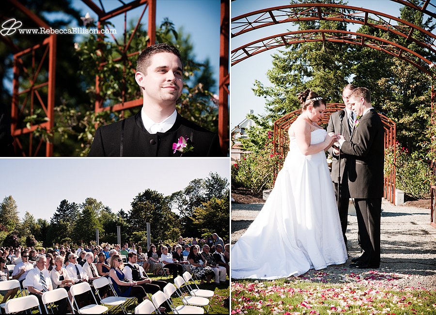 wedding ceremony at Seatac Botannical Gardens photo