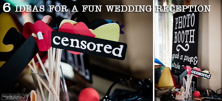 6 fun wedding reception ideas
