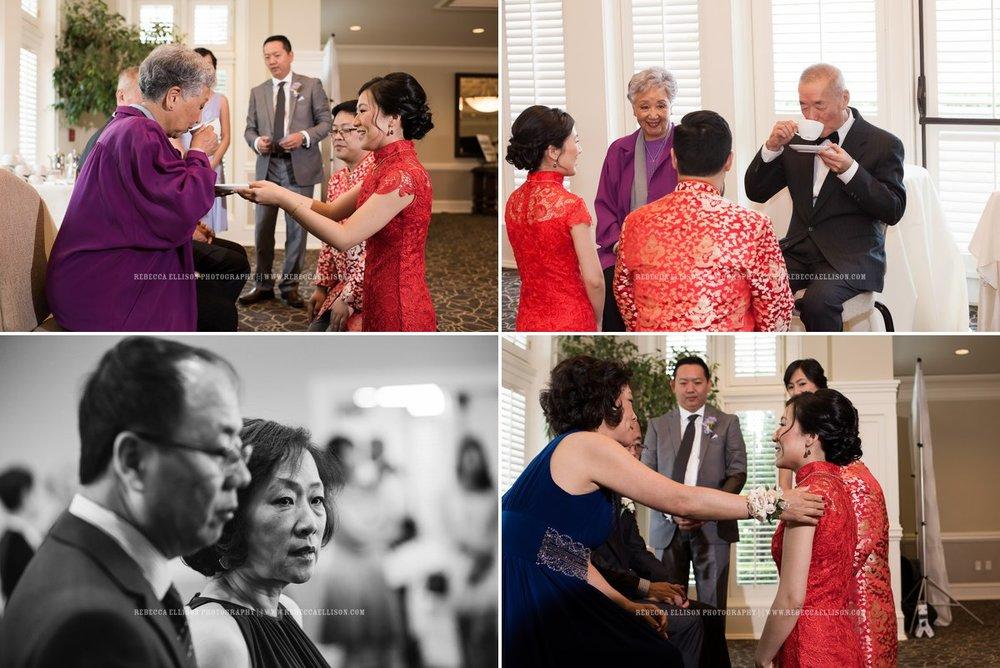 Chinese Tea Ceremony | Newcastle Golf Club Wedding | Seattle Wedding Photographer | Rebecca Ellison Photography | www.rebeccaellison.com