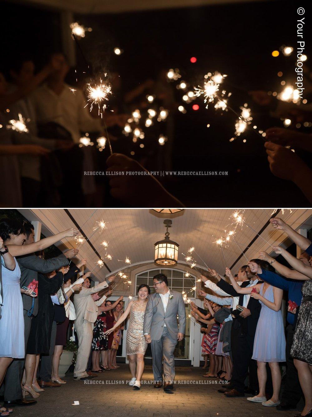 Sparkler Exit | Newcastle Golf Club Wedding | Seattle Wedding Photographer | Rebecca Ellison Photography | www.rebeccaellison.com