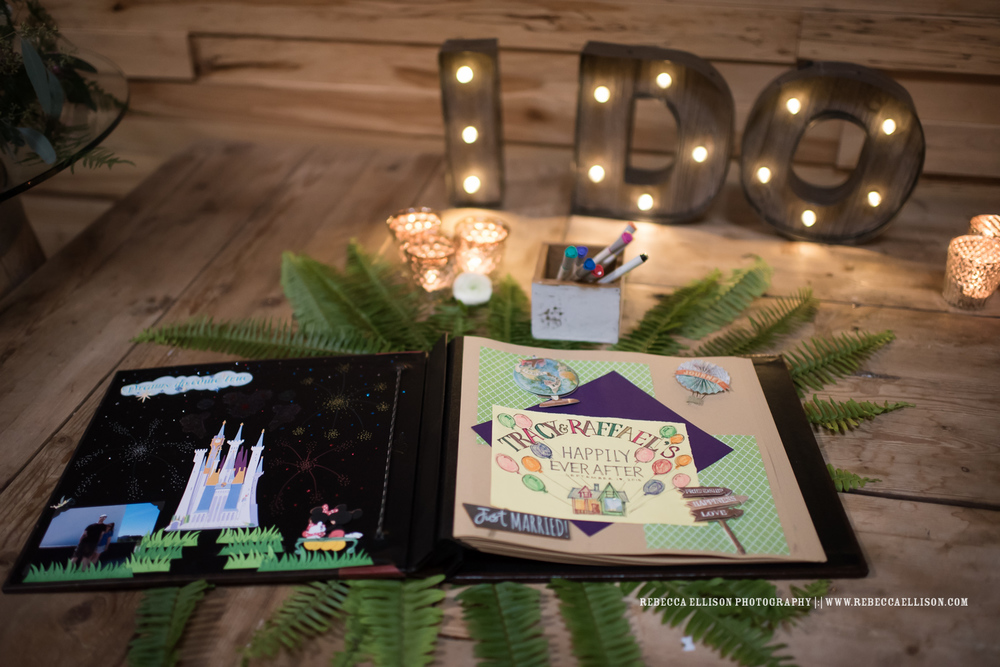 Adventure Book guest book at wedding