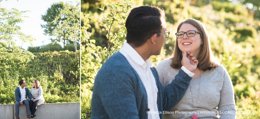 Brenna and Robert's engagement session at Olympic Sculpture Park.