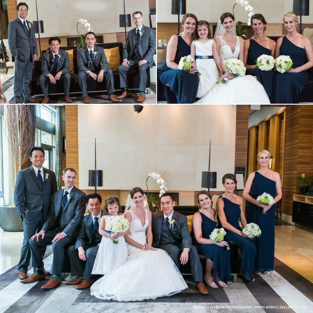 Wedding portraits at the Pan Pacific Hotel Seattle