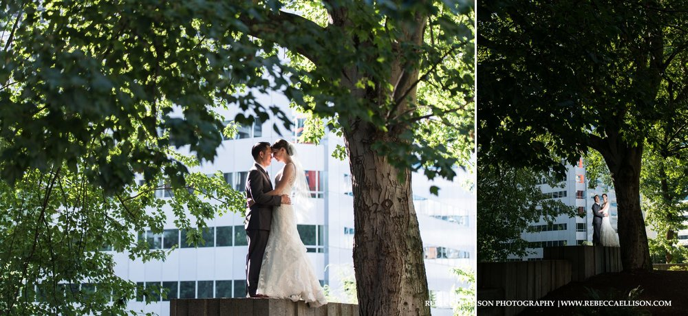 Wedding Portraits at Freeway Park