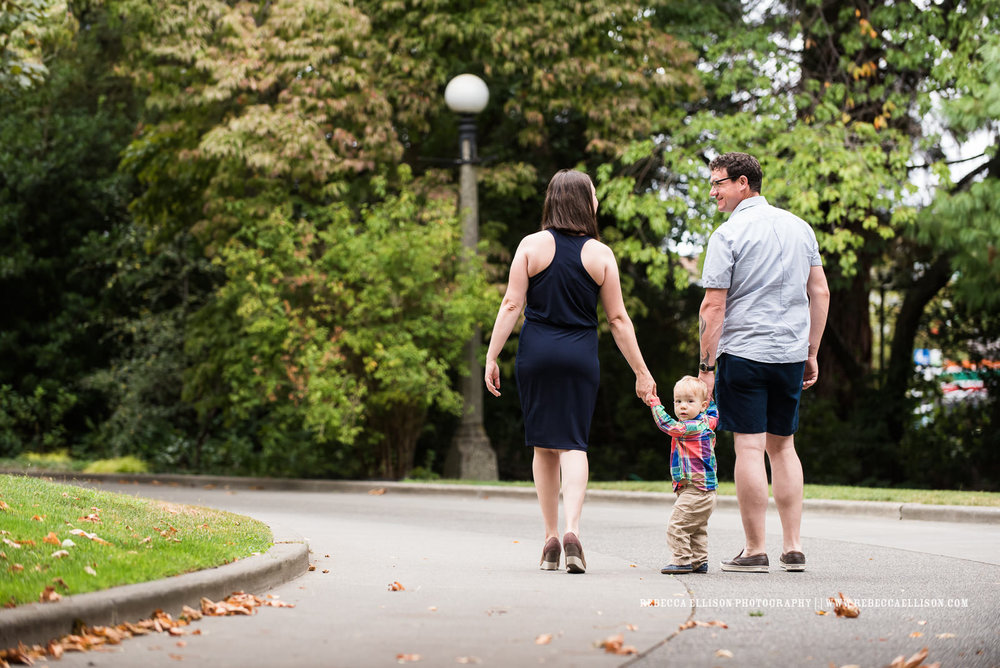 outdoor family portraits at the Ballard Locks in Seattle WA by popular Seattle family photographer Rebecca Ellison