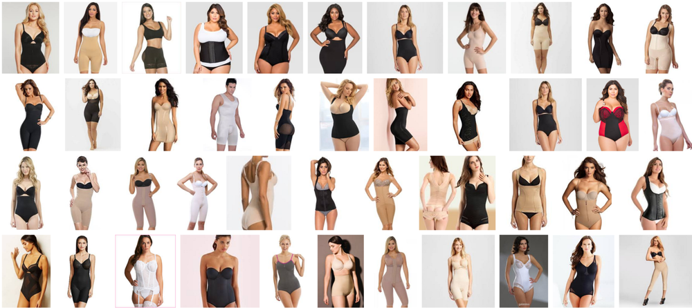 screenshot from the internets when I typed in shapewear. These are not my photos :)