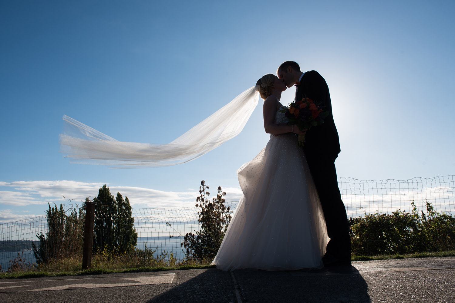 A Late Summer Church Wedding With Reception At Lake Union Cafe