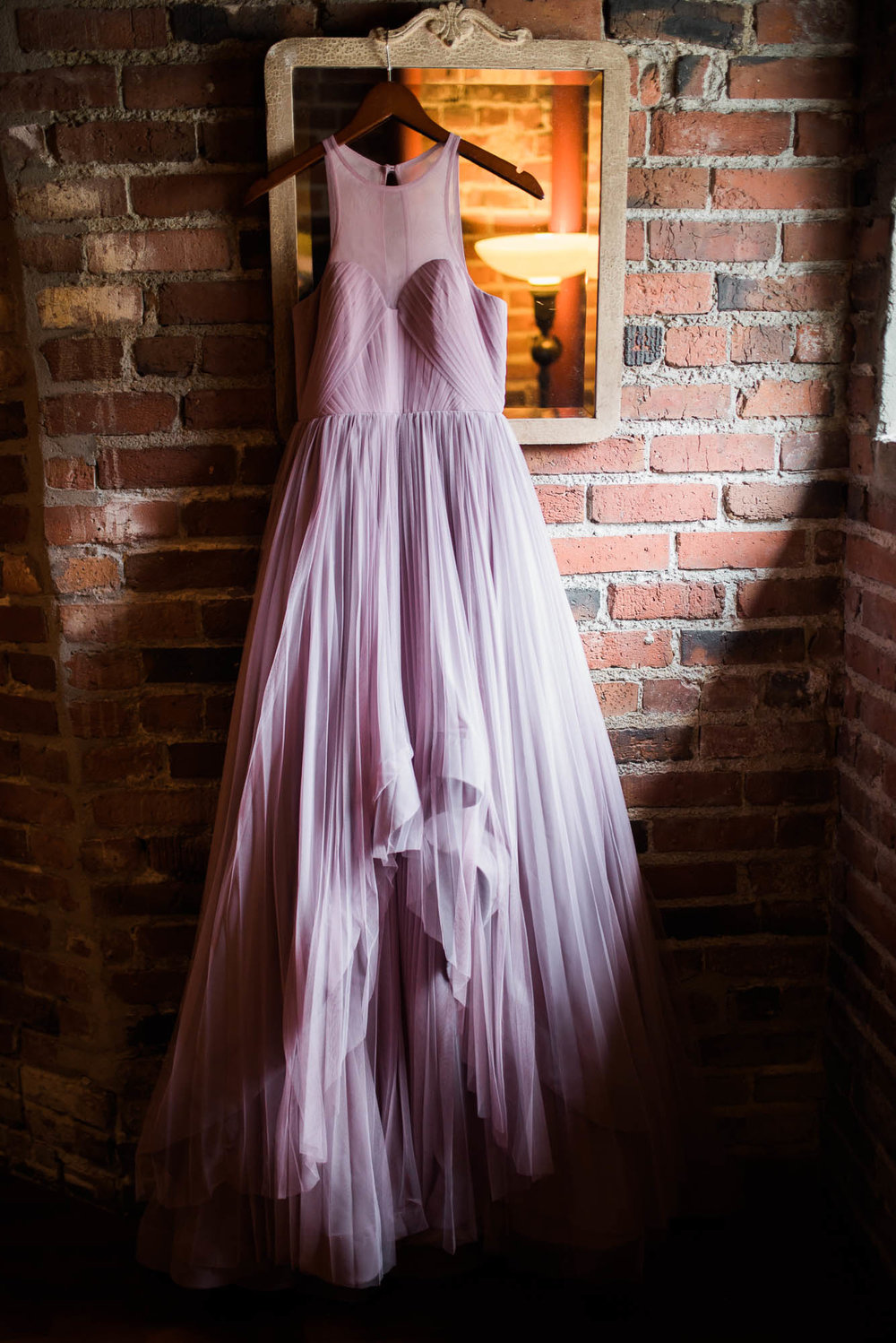 Georgetown Ballroom Wedding with board games, pop culture details and a purple wedding dress