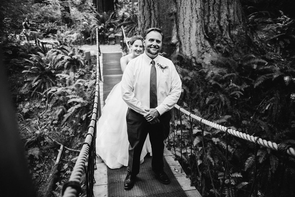 First site on a drawbridge Unique PNW wedding venue - Treehouse Point