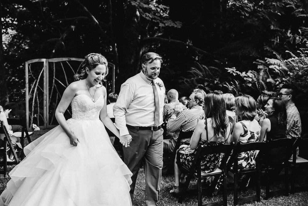 outdoor wedding ceremony Unique PNW wedding venue - Treehouse Point