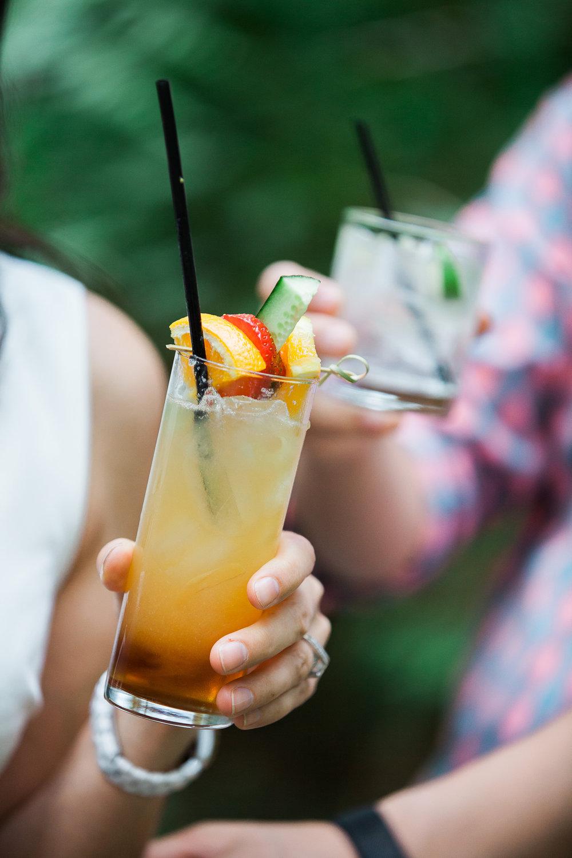 Cocktails at Unique PNW wedding venue - Treehouse Point