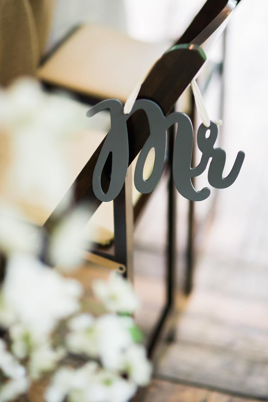 wedding mr chair sign Unique PNW wedding venue - Treehouse Point