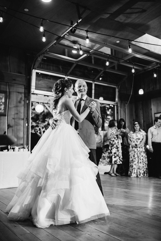 parent dance inside at =Unique PNW wedding venue - Treehouse Point