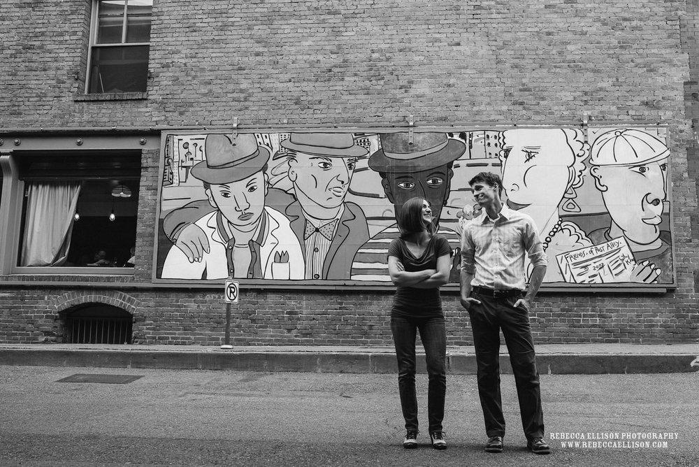 Engagement Photos around Pioneer Square, Seattlewww.rebeccaellison.com